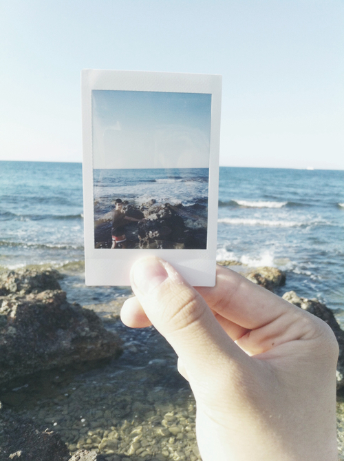 beach, polaroid, and indie image