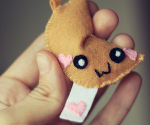 cute, felt, and heart image