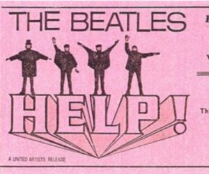 the beatles, pink, and ticket image