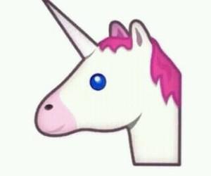 unicorn, emoji, and pink image