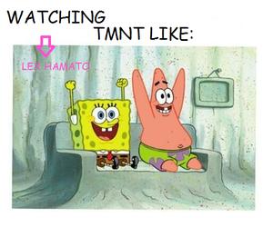 edit, spongebob, and tmnt image