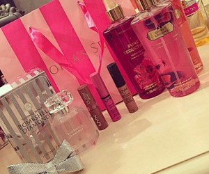 perfume, pink, and Victoria's Secret image