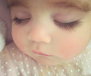 baby, child, and eyelashes image