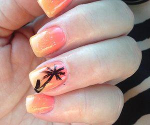 nail art, nails, and orange image