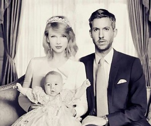baby, calvin harris, and family image