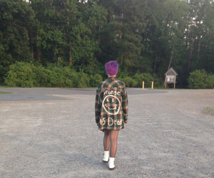 doc martins, grunge, and purple hair image