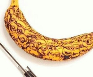 minions, banana, and art image