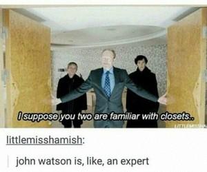lol, sherlock, and john watson image