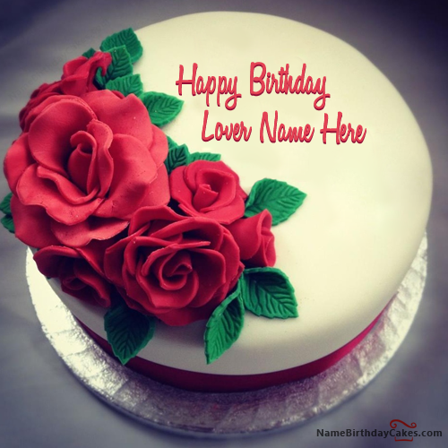 Incredible Write Name On Best Roses Birthday Cake For Lover Happy Birthday Funny Birthday Cards Online Alyptdamsfinfo