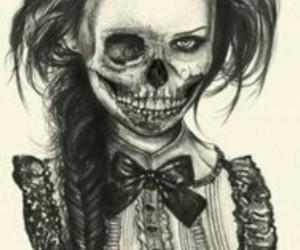girl and skulls image