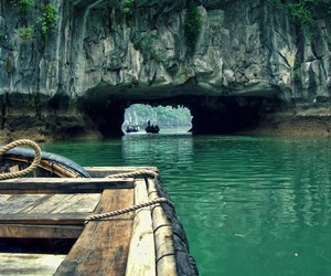nature, water, and boat image