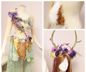 faun, fantasy costume, and firefly path image