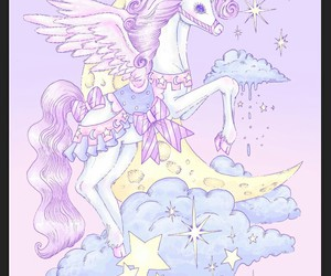 unicorn, pastel, and purple image