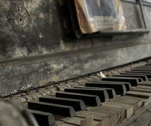photography, old, and piano image