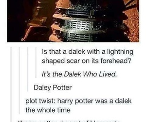 harry potter, doctor who, and Dalek image