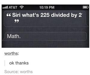 funny, math, and siri image