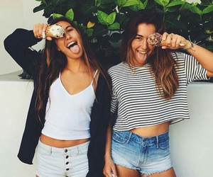 ice cream, friends, and girls image