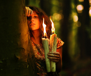 girl, candle, and photography image