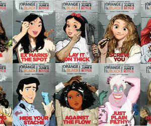 disney, orange is the new black, and princess image