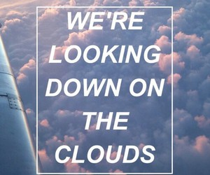 clouds, Lyrics, and one direction image