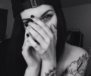 beautiful, black and white, and tattoo image
