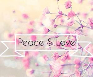 love, peace, and pink image