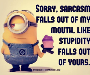 minions and sarcasm image
