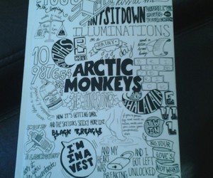 arctic monkeys, black and white, and grunge image