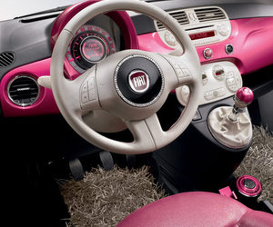 car, pink, and 500 image