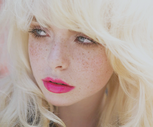 girl, blonde, and freckles image
