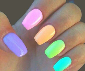 beautiful, nails, and colorful nails image