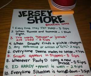 jersey shore, alcohol, and drinking image