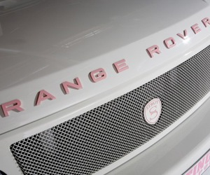 car, pink, and range rover image