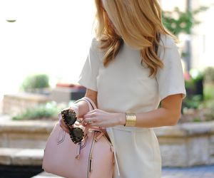 bags, blonde, and dress image