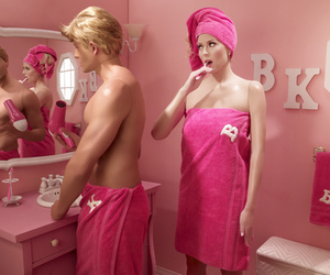 barbie, pink, and couple image