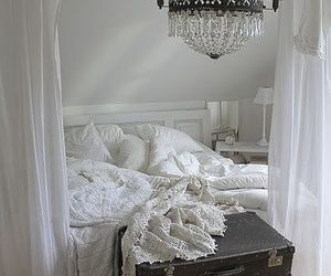 bedroom, shabby chic, and white image