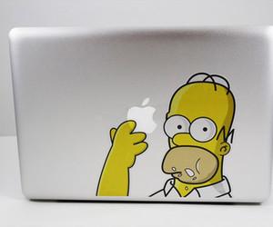 apple, homer, and macbook image