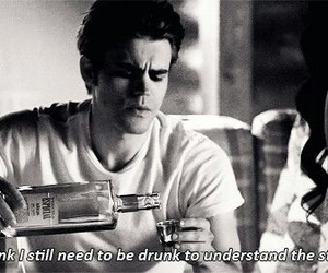 the vampire diaries, tvd, and drunk image