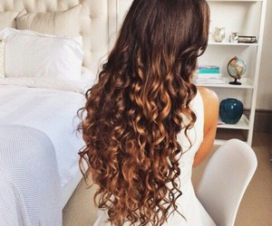 hair, curly, and hairstyle image