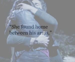 arms, home, and hug image