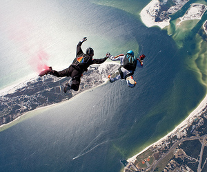 jump, skydiving, and boy image