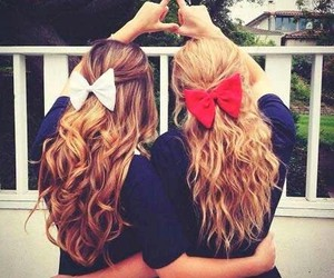 friends, hair, and bow image