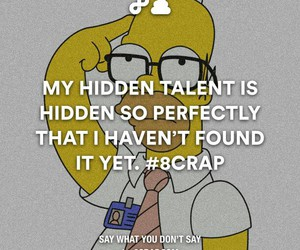 talent, funny, and simpsons image