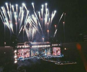 concert, fireworks, and goals image