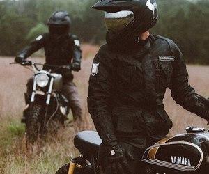bike, black, and YAMAHA image