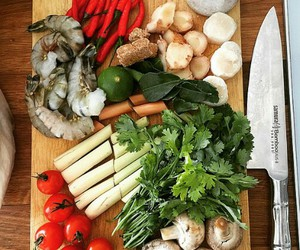 fish, vegetables, and food image