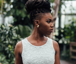 beautiful, model, and black woman image
