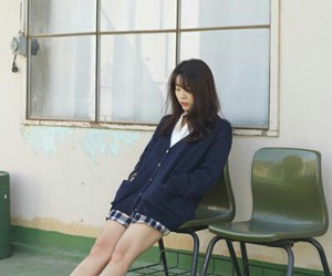 girl, japanese, and school image