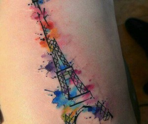 tattoo, colors, and paris image