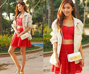 clothes, outfits, and red image